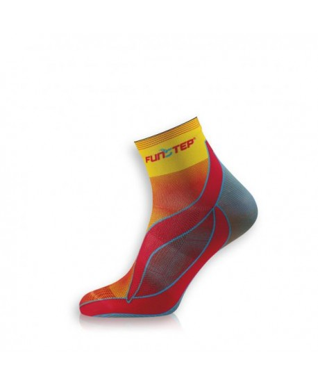 Short yellow / blue running socks