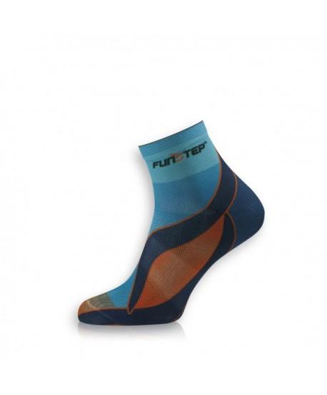 Short blue / orange running socks