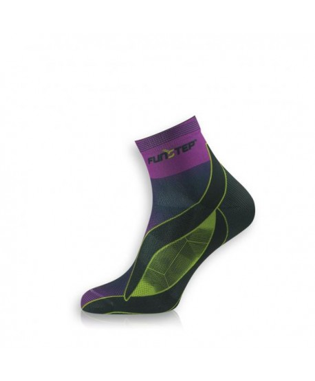 Short purple / green running socks