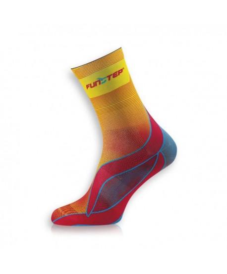 Medium yellow / blue running socks