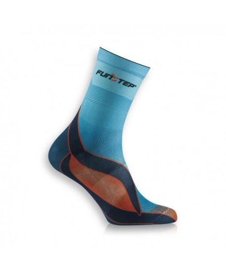 Medium blue / orange running socks