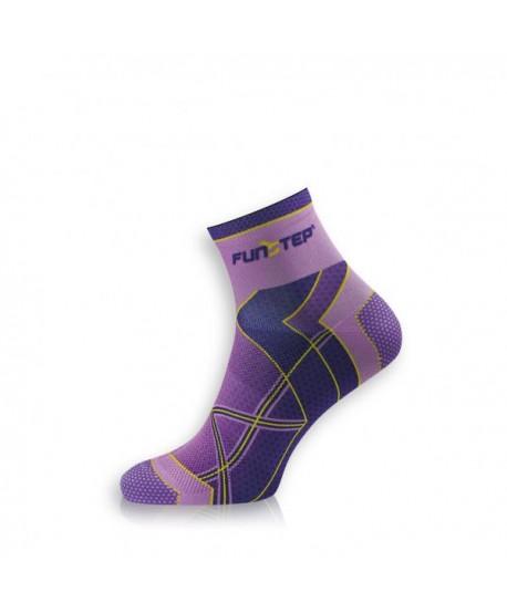 Calcetines para correr malva/morado cortos