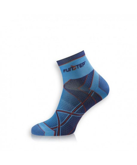 Short blue / red running socks