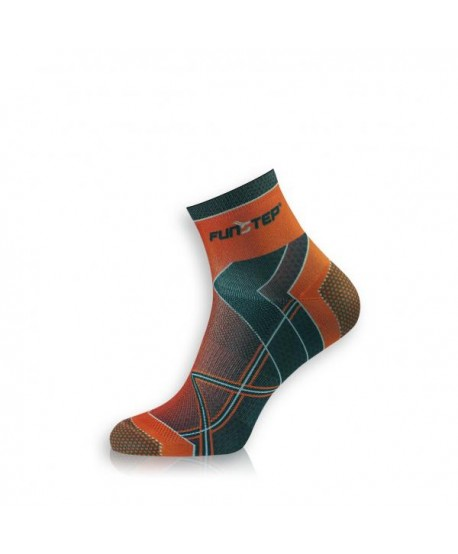 Short orange / black running socks