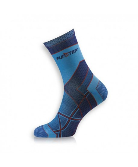 Medium blue / red running socks