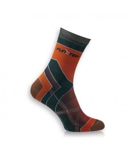 Medium orange / black running socks