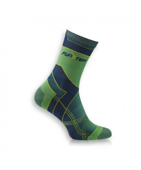 Medium green / marine running socks