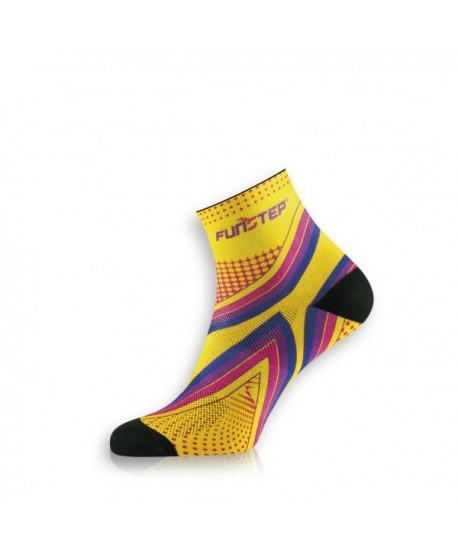 Short yellow / purple running socks