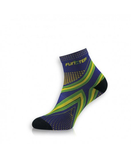 Short blue / green running socks