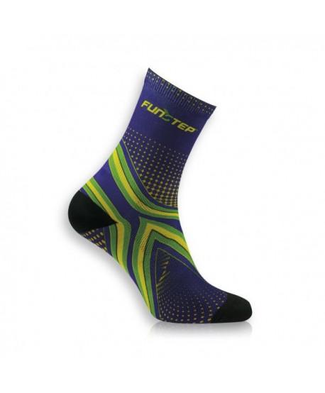 Medium blue / green running socks