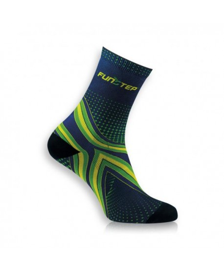 Medium marine / green running socks