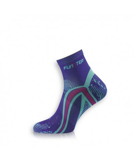 Short blue / purple running socks