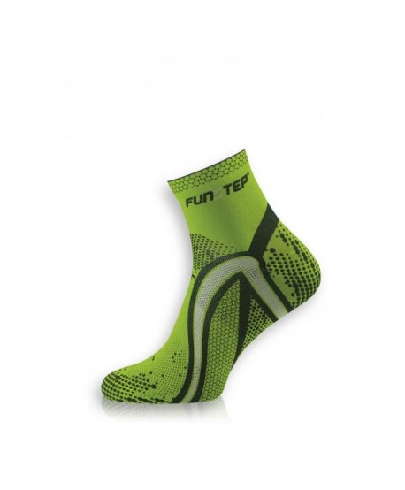 Short green / gray running socks
