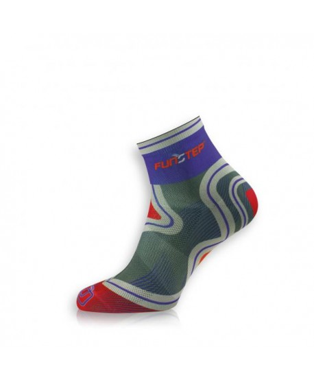 Short purple / red trekking socks