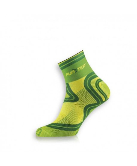 Short light green / dark green trekking socks