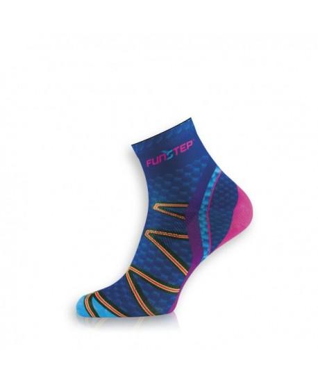 Short blue / pink trekking socks