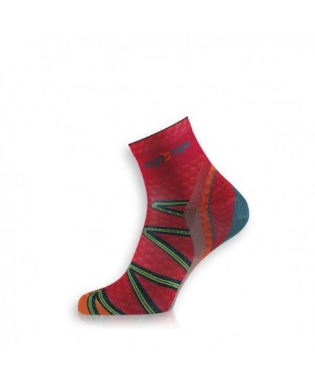 Short red / orange trekking socks