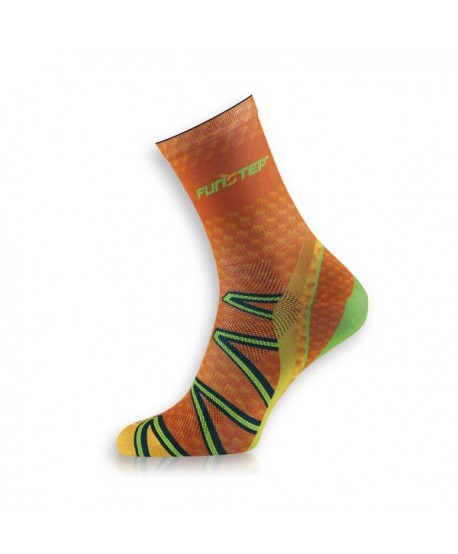 Medium orange / green trekking socks