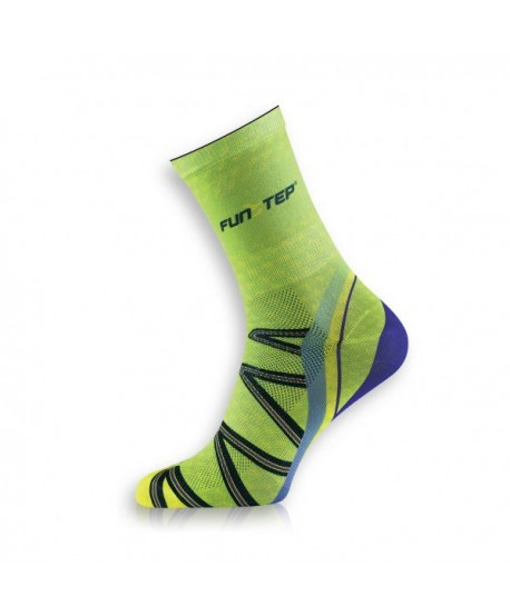 Medium green / purple trekking socks