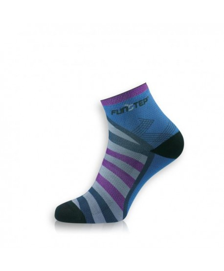 Short blue / purple trekking socks