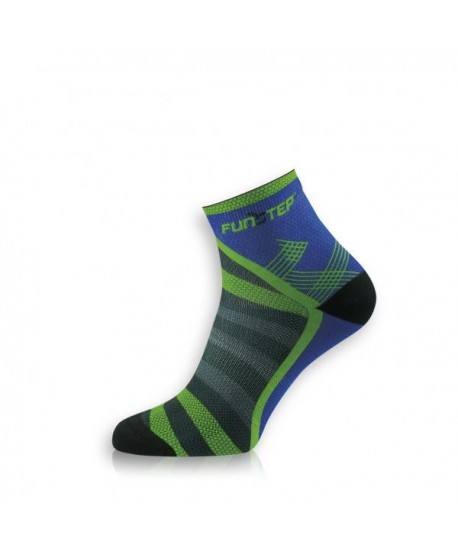 Short blue / green trekking socks