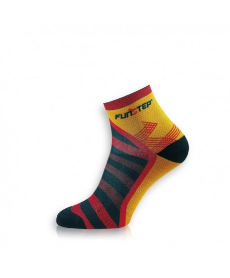Short orange / red trekking socks