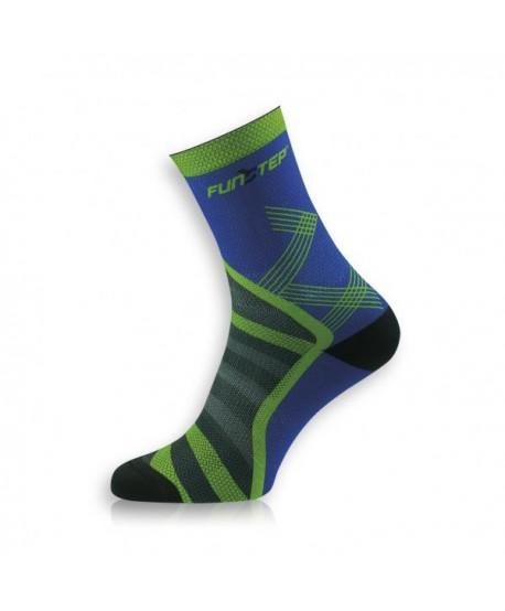 Medium blue / green trekking socks