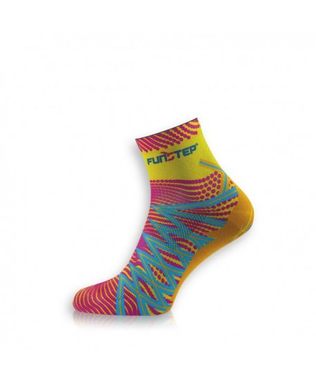 Short yellow / pink trekking socks