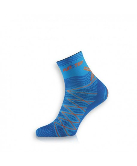 Short light blue / dark blue trekking socks