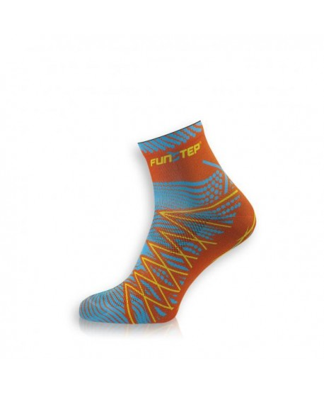 Short orange / blue trekking socks
