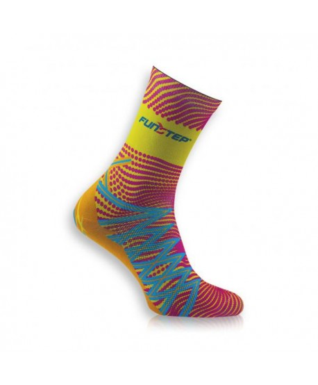 Medium yellow / pink  trekking socks