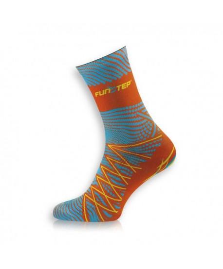 Medium orange / blue trekking socks