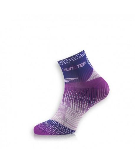Creative short blue / purple cycling socks