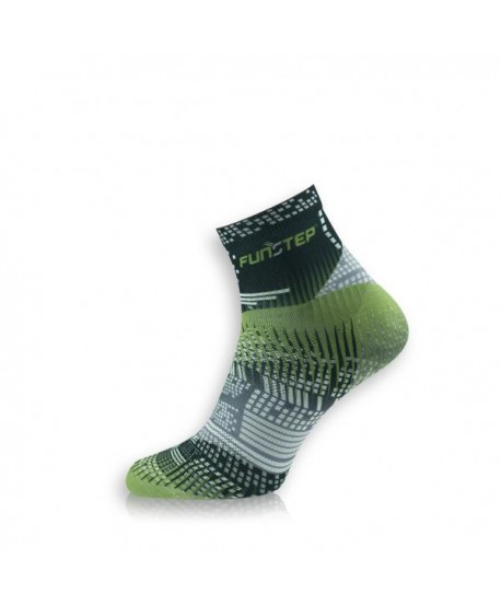 Creative short black / green cycling socks
