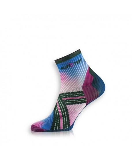 Creative short black / pink cycling socks