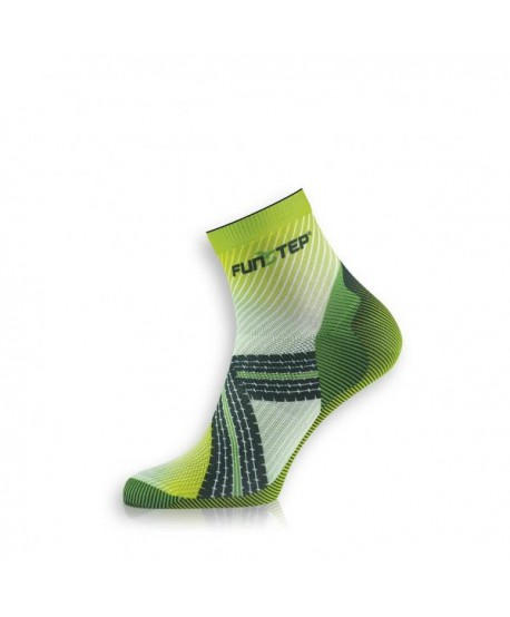 Creative short light green / dark green cycling socks