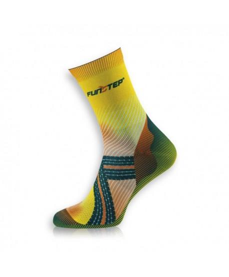 Funny medium yellow / orange cycling socks