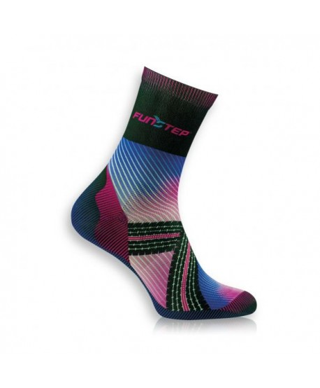 Funny medium black / pink cycling socks