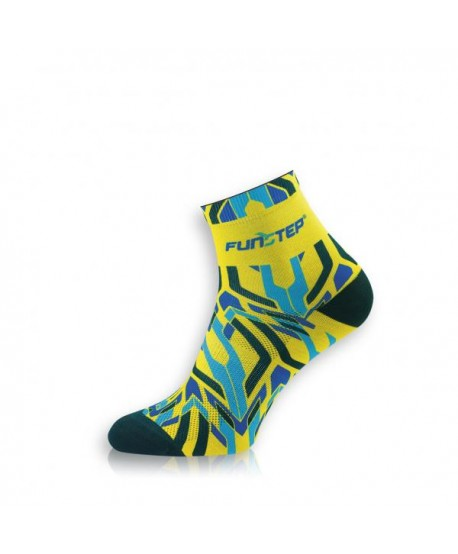 Funny short yellow / blue cycling socks
