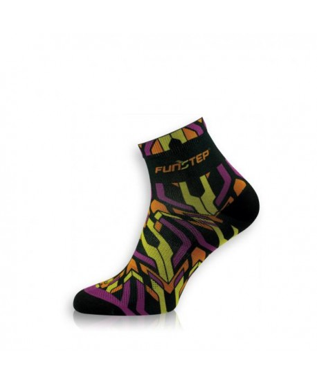 Funny short black / green cycling socks