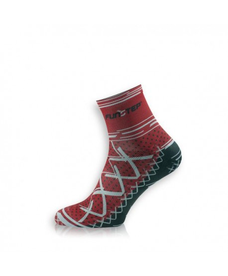 Short red / gray cycling socks