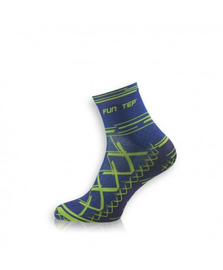 Short blue / green cycling socks