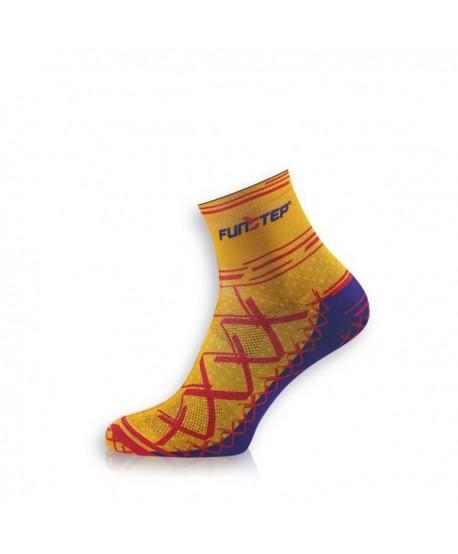 Short orange / red cycling socks