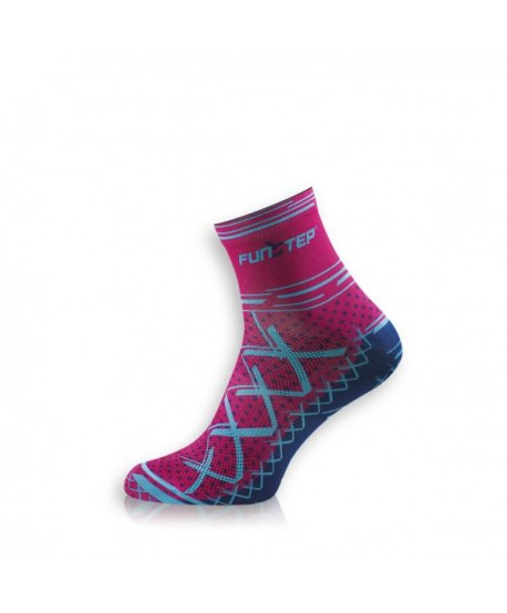 Short blue / Pink Cycling Socks