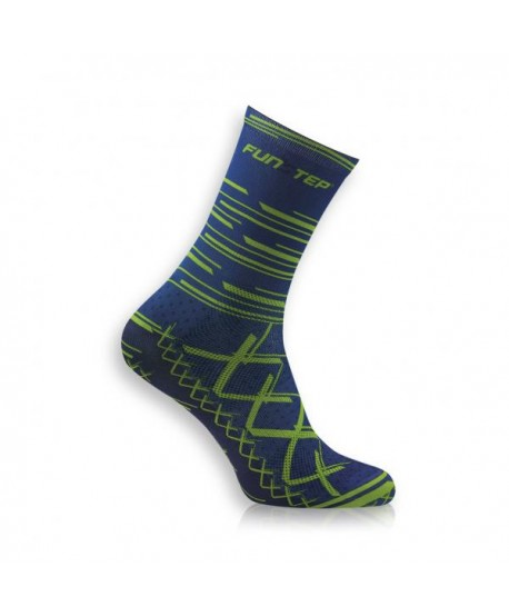 Medium Blue/ Green Cycling Socks