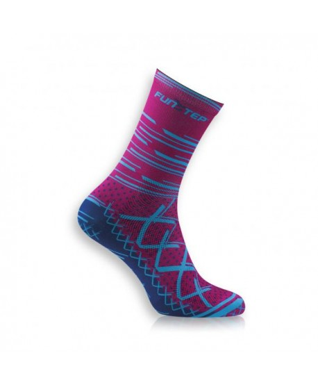 Medium pink / blue cycling socks