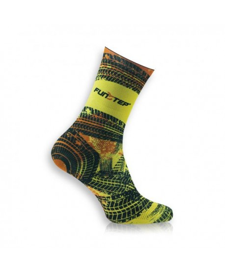Yellow / black patterned socks