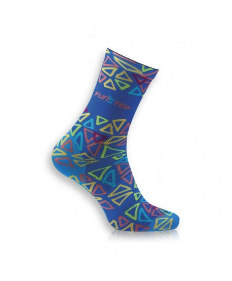 Creative blue / fuchsia socks