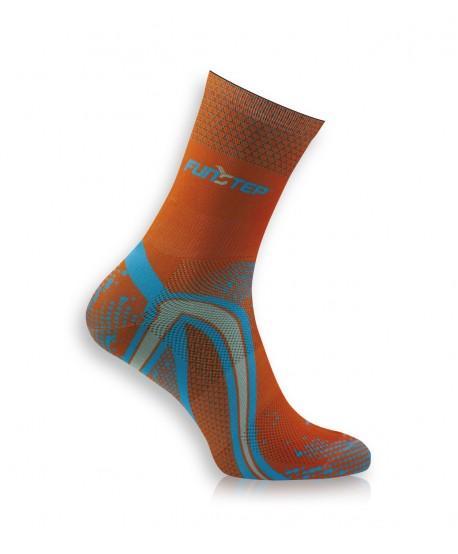 copy of Short orange / blue running socks
