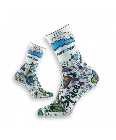 Calcetines divertidos blanco roto/azul